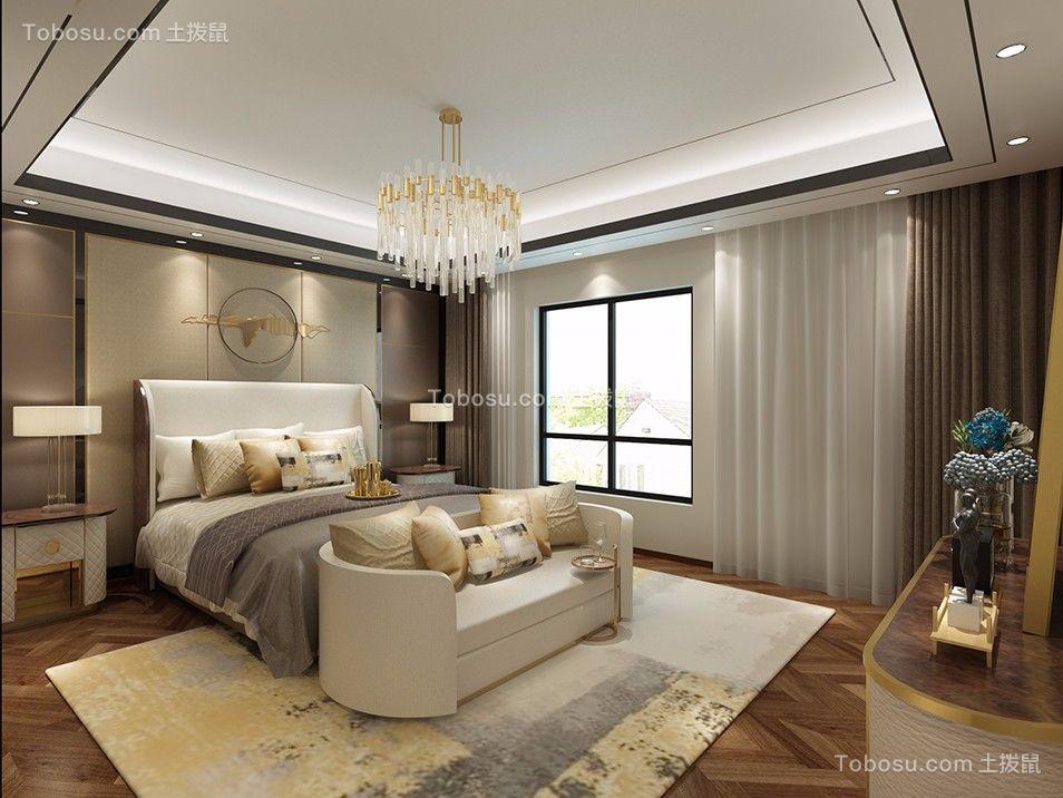 卧室米色床混搭风格装修效果图