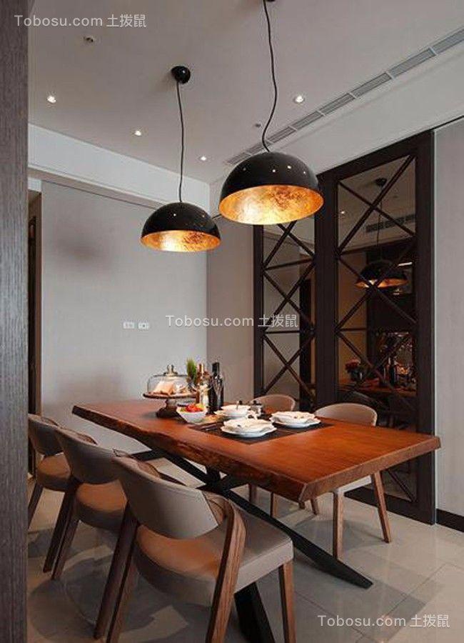 餐厅白色餐桌现代风格效果图