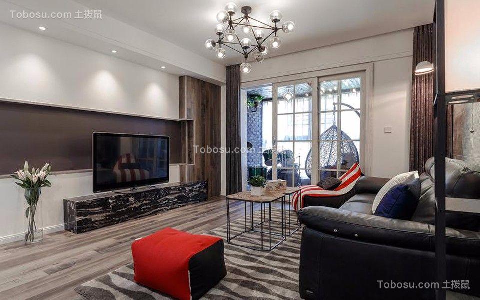 客厅白色吊顶现代风格效果图