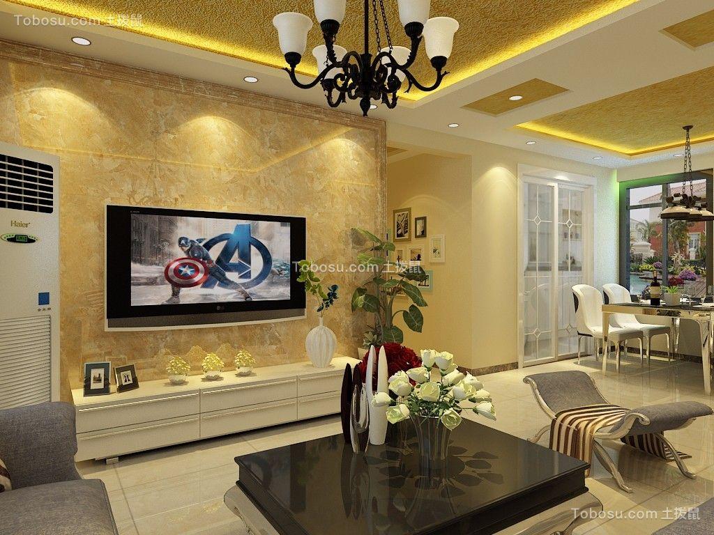 百步亭中国MALL115平三居室欧式装修效果图