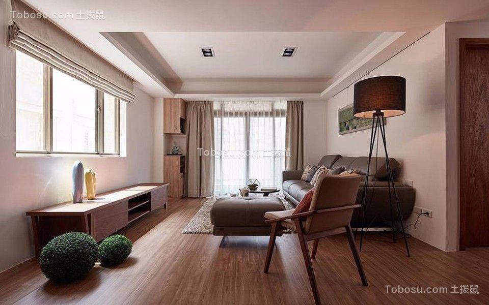现代风格105平米3房2厅房子装饰效果图