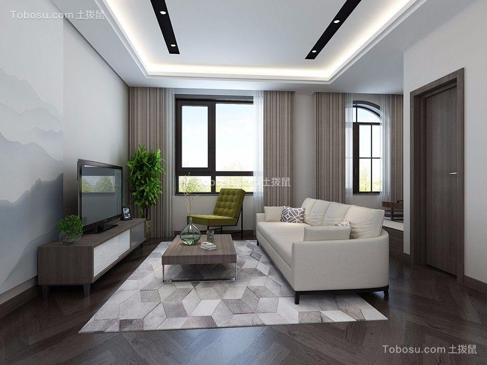 卧室灰色窗帘现代简约风格装修效果图
