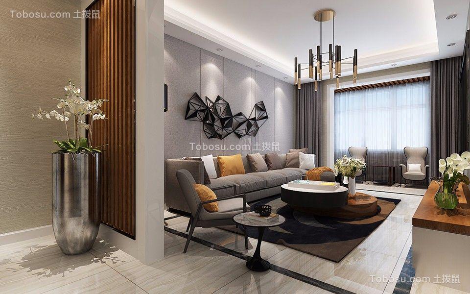 简约风格120平米3房2厅房子装饰效果图