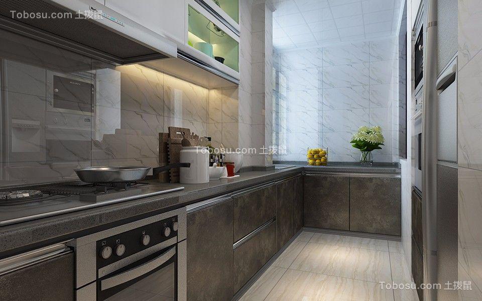 厨房灰色橱柜简约风格装潢效果图
