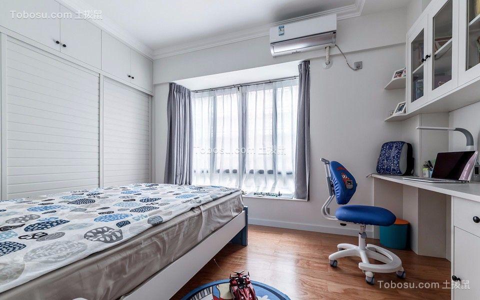 儿童房灰色窗帘简约风格装饰设计图片