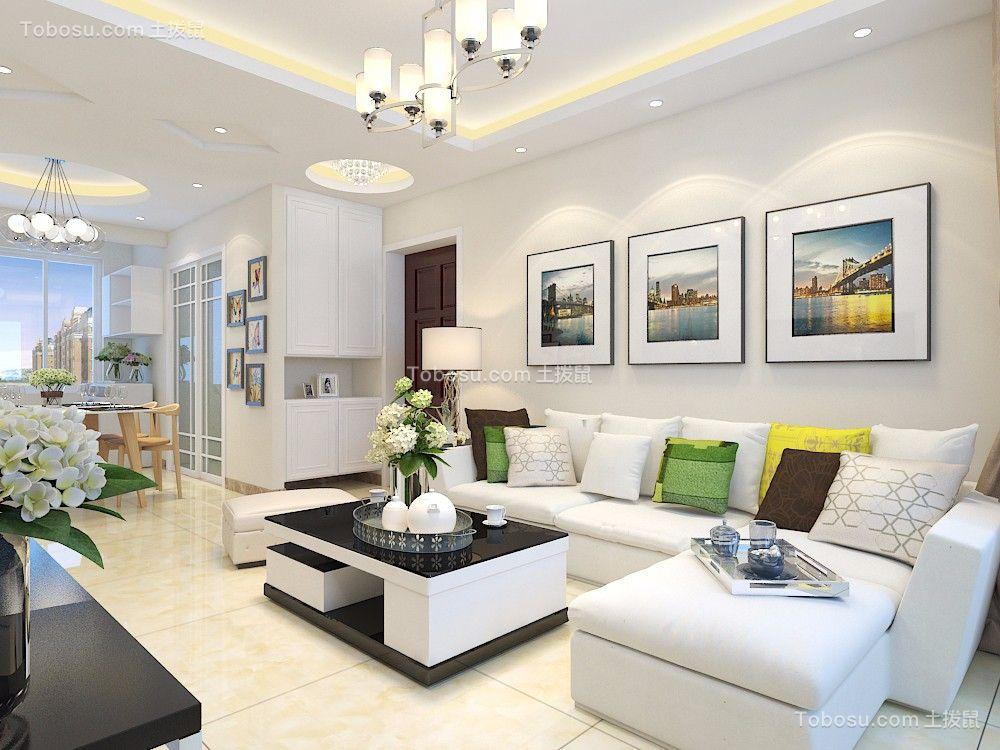海亮艺术华府118平三居室现代简约风格装修效果图