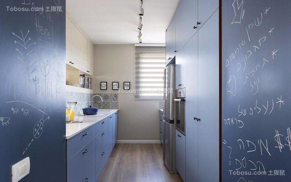 厨房白色橱柜简约风格装潢效果图