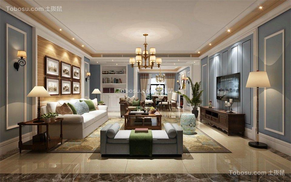 简欧风格90平米2房2厅房子装饰效果图