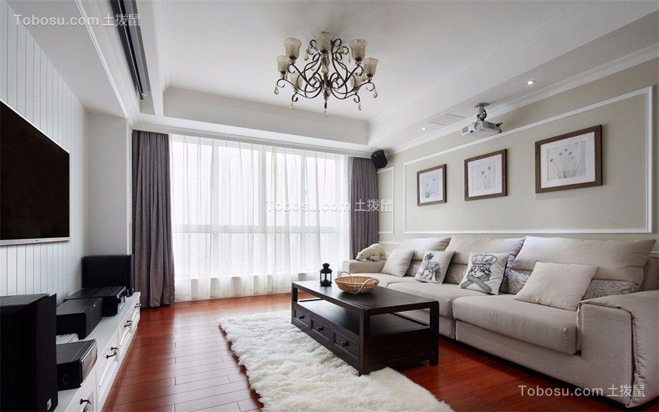 97平米现代简约风格二居室装修效果图