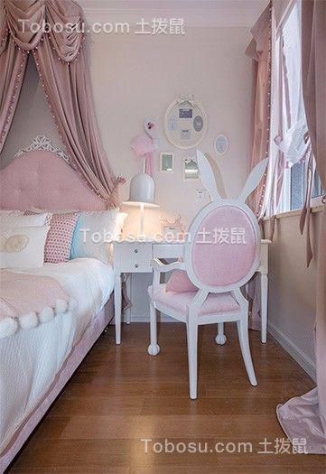 儿童房粉色床现代风格效果图