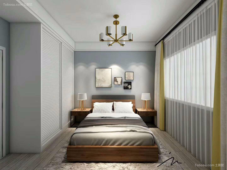 卧室白色床简约风格装饰图片