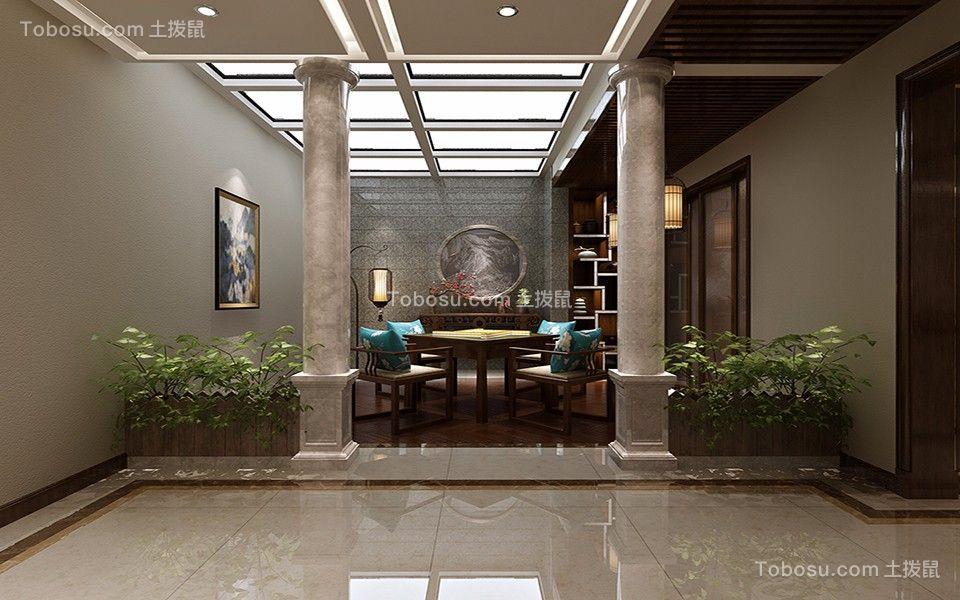 客厅灰色地板砖经典风格效果图