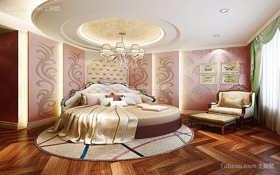 卧室灰色床法式风格装饰图片