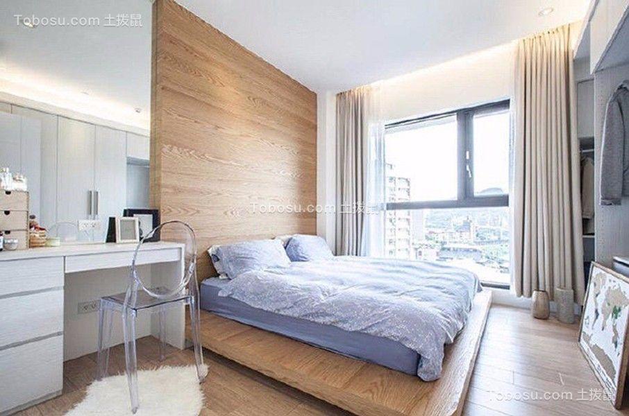卧室白色梳妆台北欧风格装潢设计图片