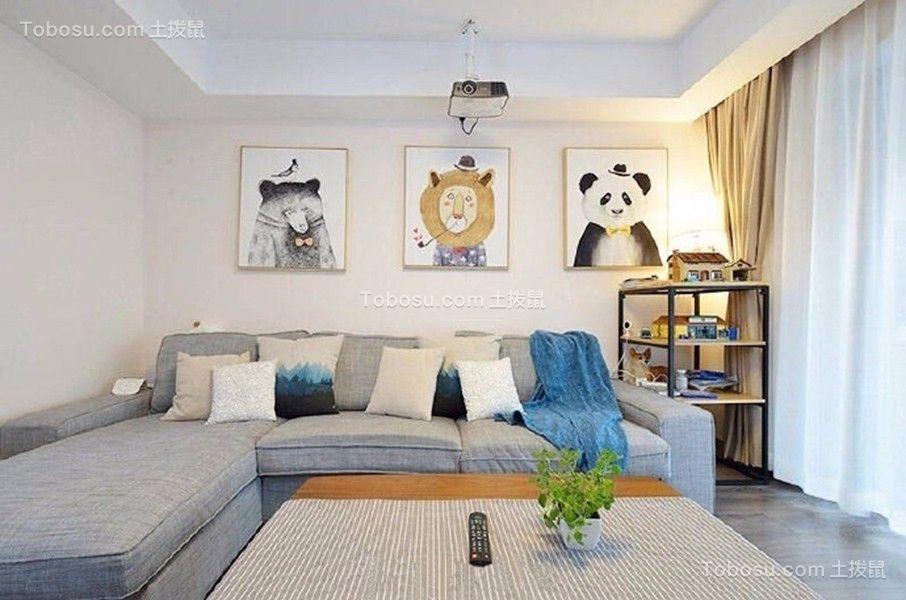 90平现代简约风格一居室装修效果图