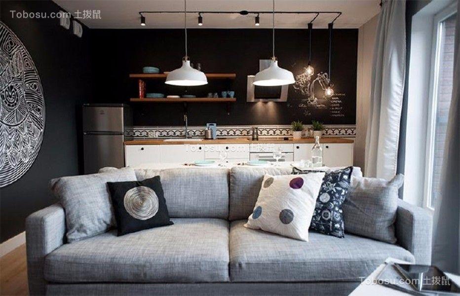 现代简约风格40平米小户型室内装修效果图