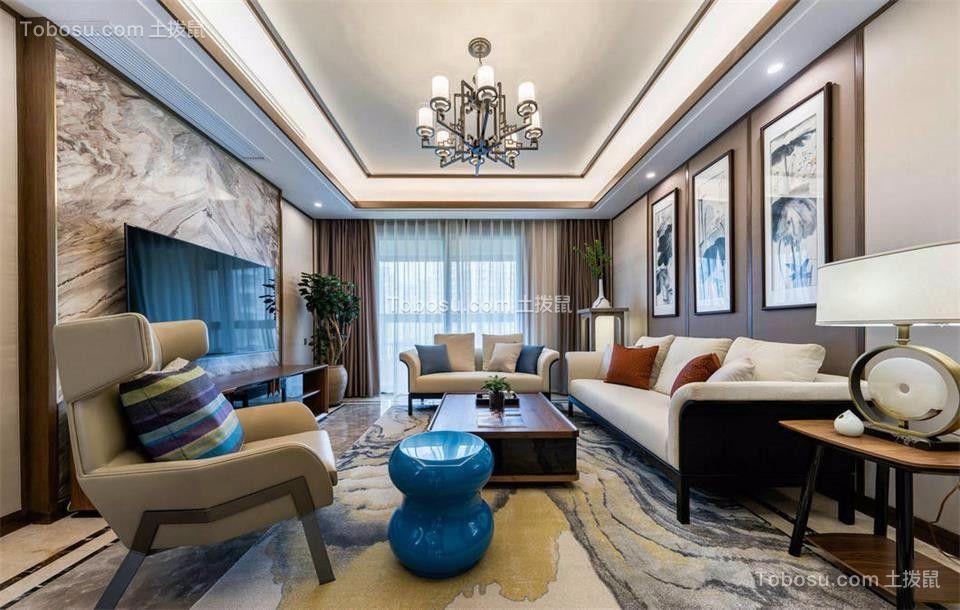 新中式风格300平米四房两厅新房装修效果图