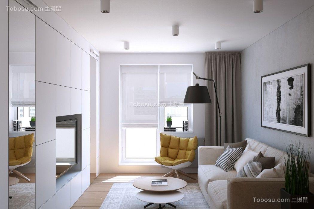 60平米一居室现代简约风格装修效果图
