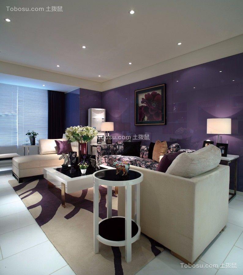 现代简约风格89平米3房2厅房子装饰效果图