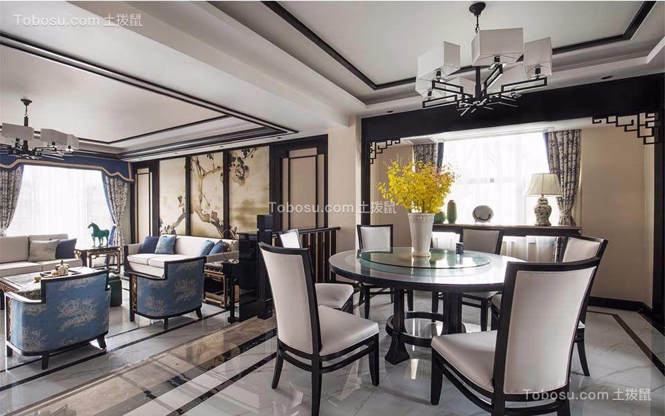中式风格187平米大户型室内装修效果图