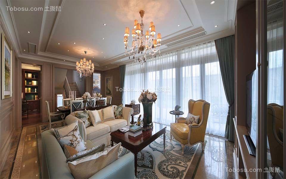 美式风格180平米复式房子装饰效果图