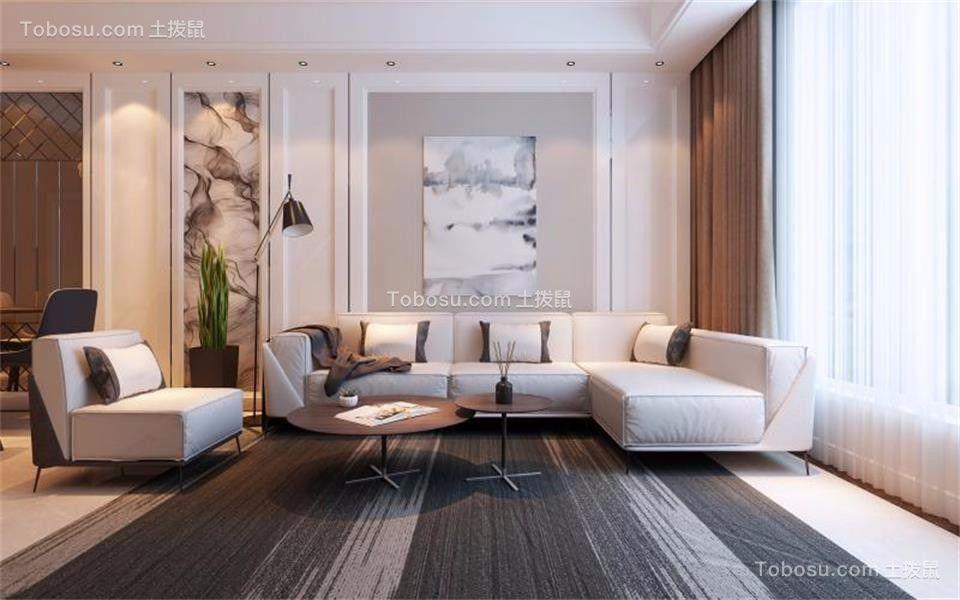 简约风格116平米3房2厅房子装饰效果图