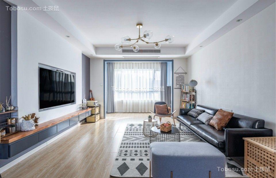 北欧风格112平米两房两厅新房装修效果图