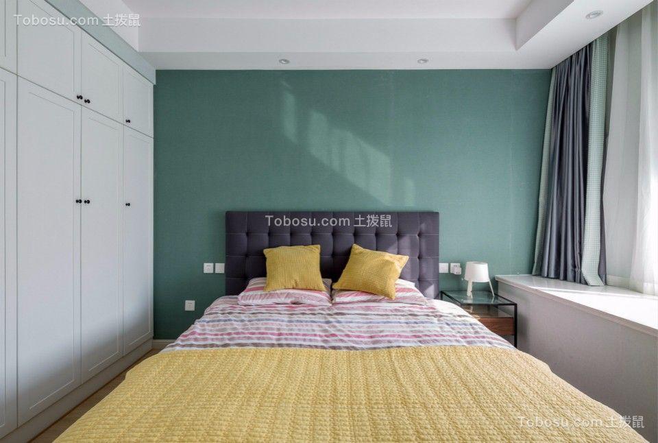 卧室绿色照片墙北欧风格装饰效果图
