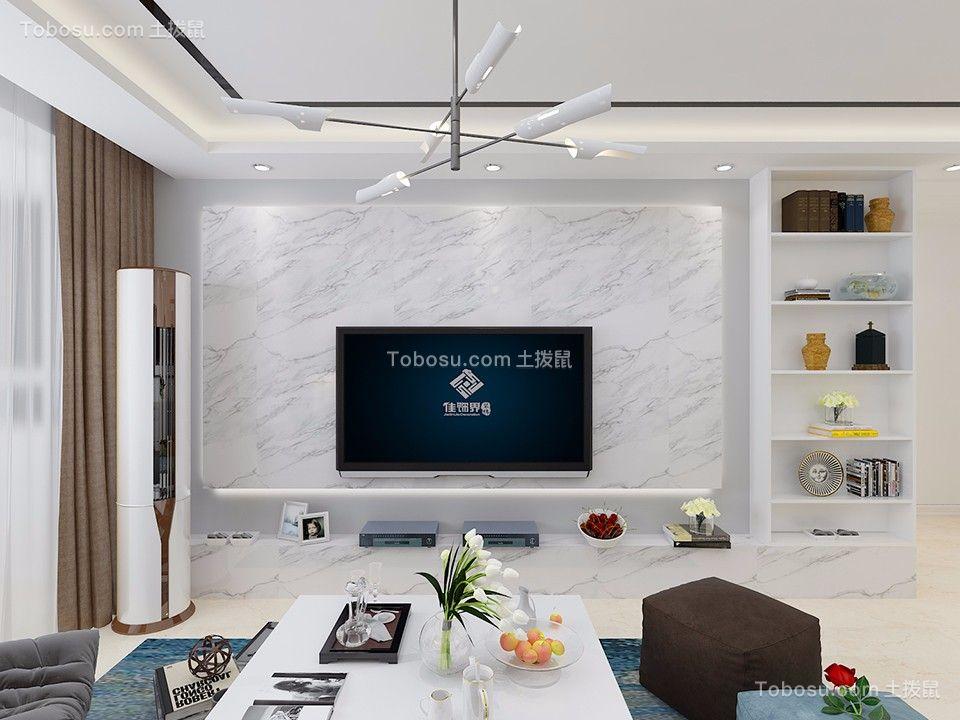 88平经典二居室现代简约风格装修效果图