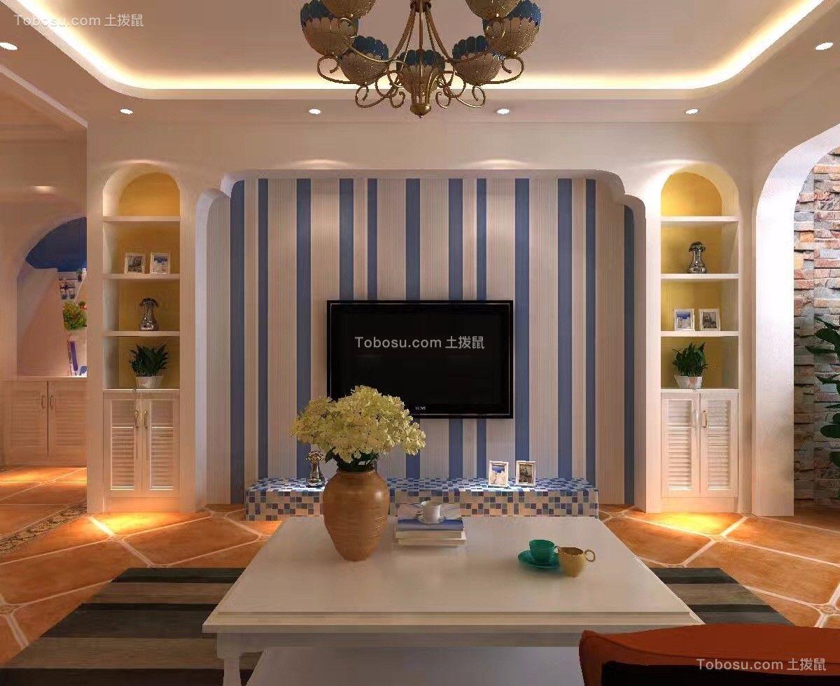 135平米美式风格3居室装修效果图