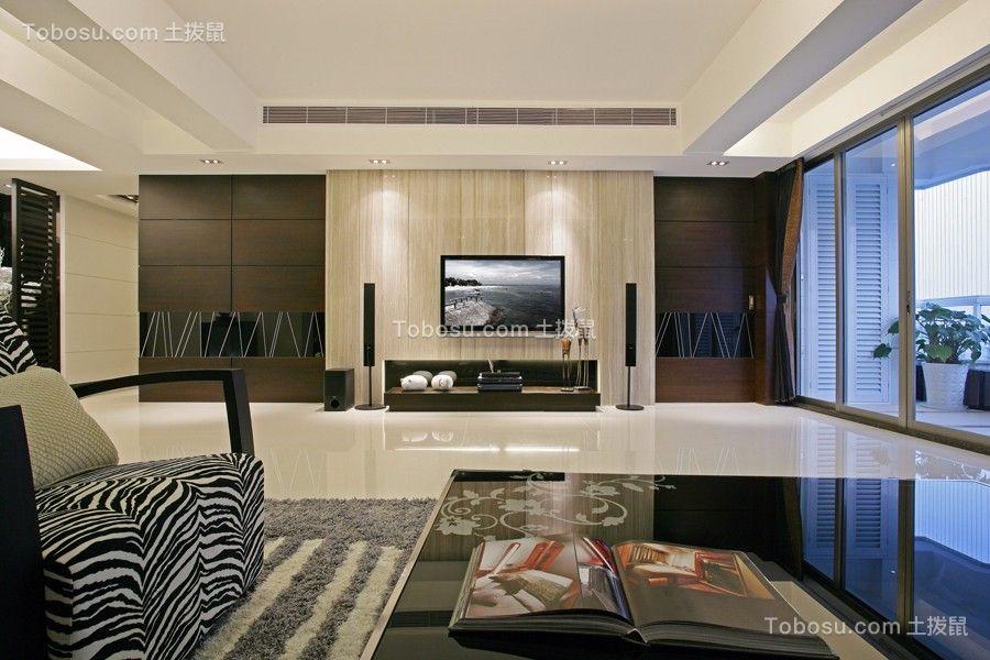 客厅米色背景墙北欧风格效果图
