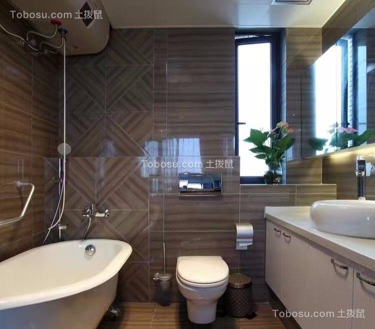 卫生间白色洗漱台简约风格装修设计图片