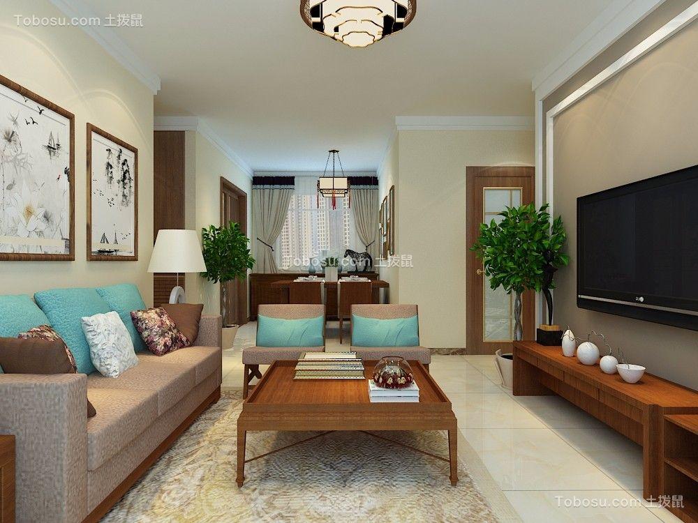 华山珑城109平三居室中式装修效果图