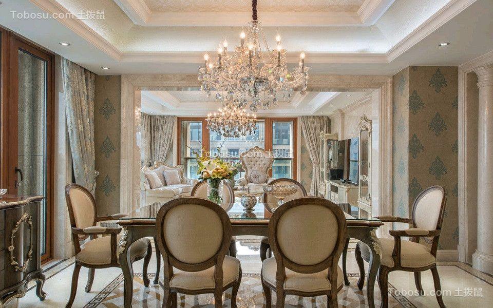 欧式风格220平米别墅房子装饰效果图