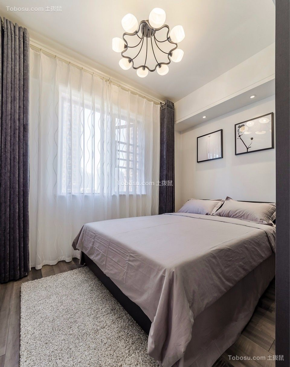 卧室白色窗台现代风格装饰效果图