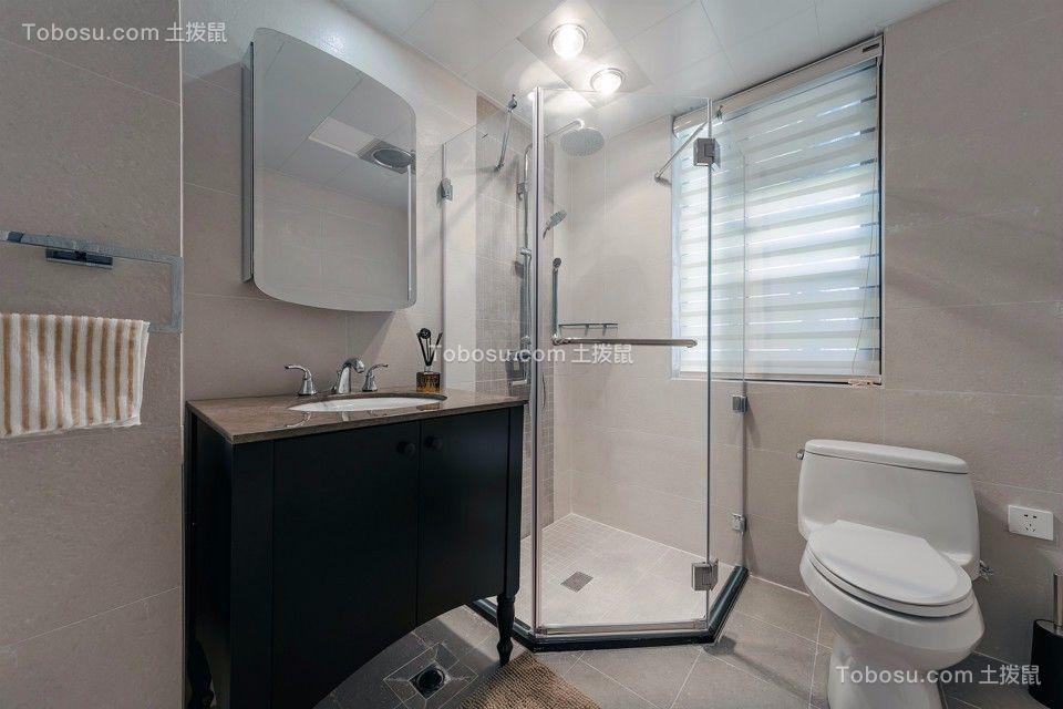 卫生间黑色洗漱台现代风格装饰图片