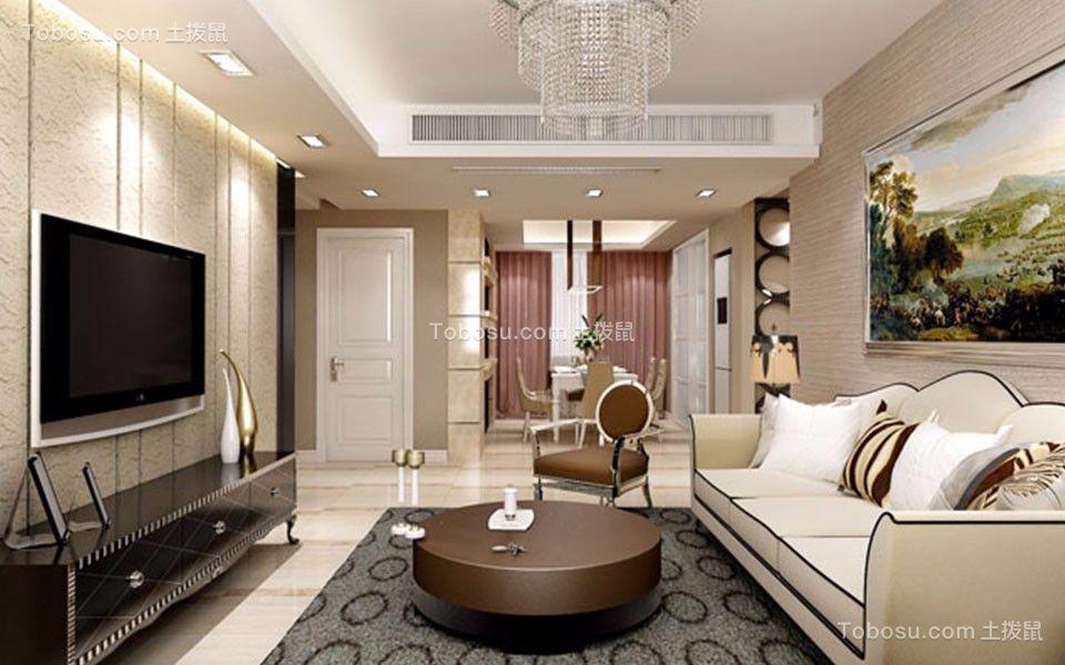 15万打造130平现代风格三居室装修效果图