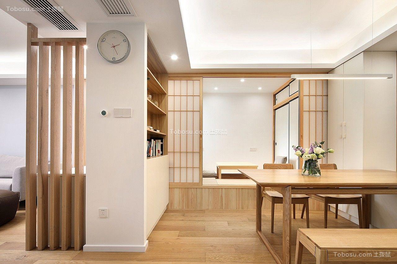 餐厅灰色背景墙日式风格装潢效果图