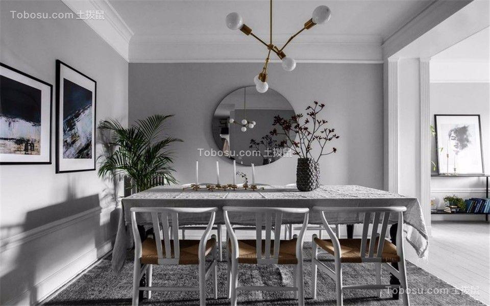 餐厅灰色背景墙现代风格装潢图片
