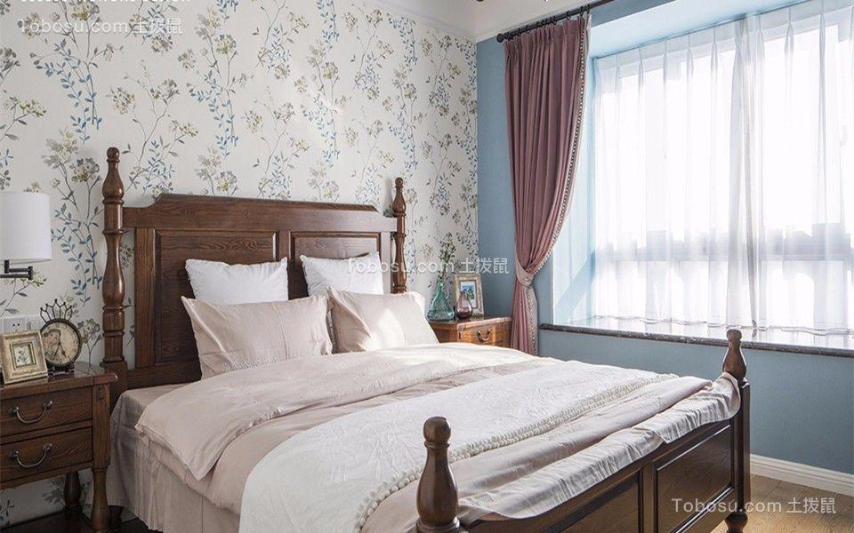齐修北苑美式风格75平米二居室装修效果图