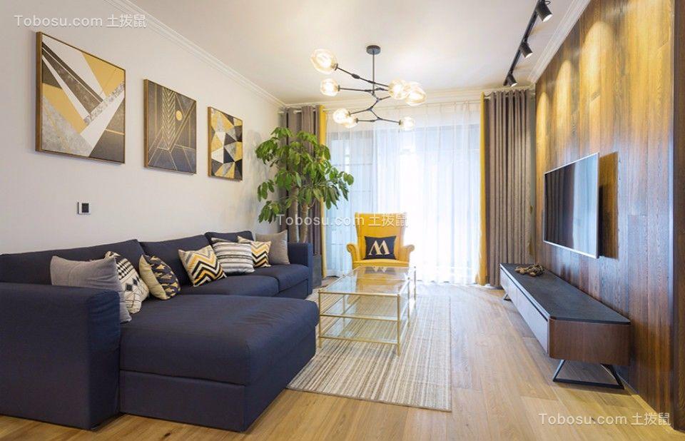 北欧风格93平米两室两厅室内装修效果图