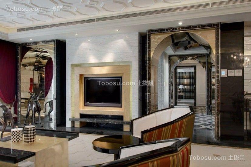 麓山国际四居室220平米欧式风格装修效果图