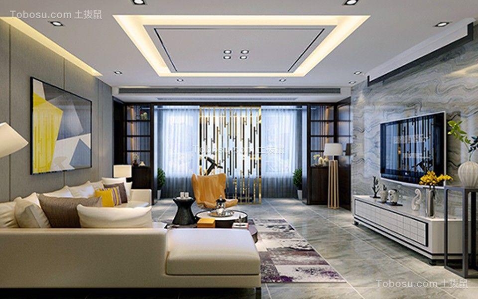 客厅灰色地砖简约风格装修图片