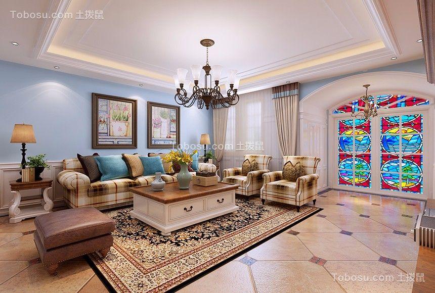 地中海风格230平米复式房子装饰效果图