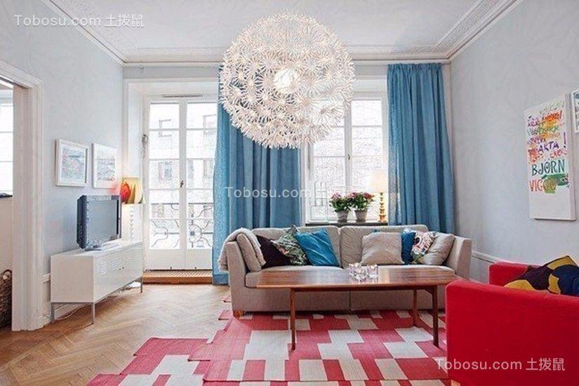 客厅白色沙发简单风格装饰设计图片