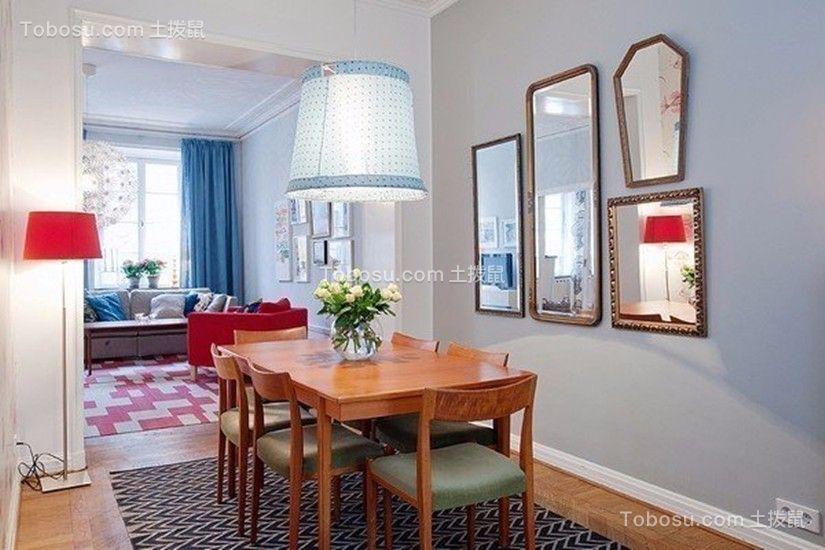 餐厅咖啡色餐桌简单风格装潢设计图片