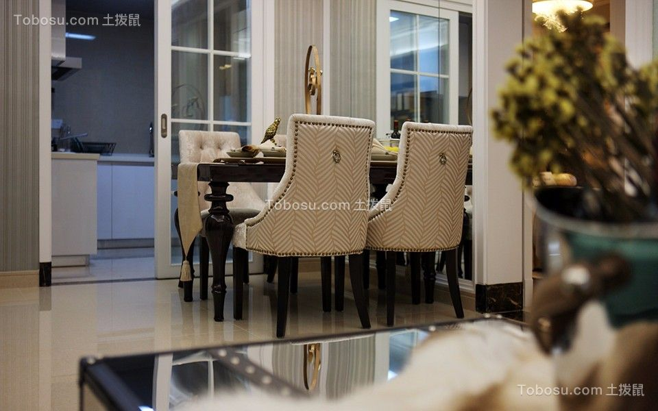 银龙花园70平方新古典风格二居室装修效果图