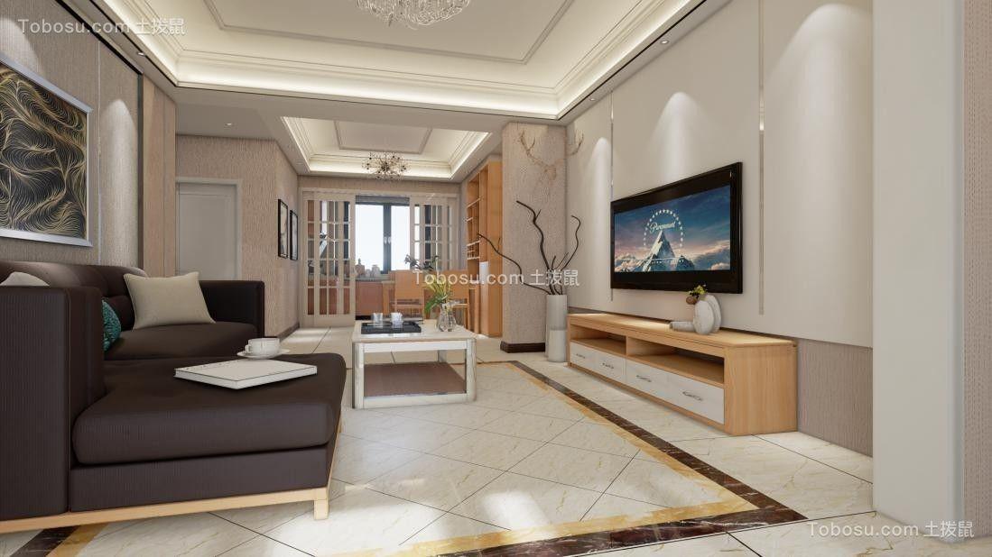 混搭风格95平米3房2厅房子装饰效果图