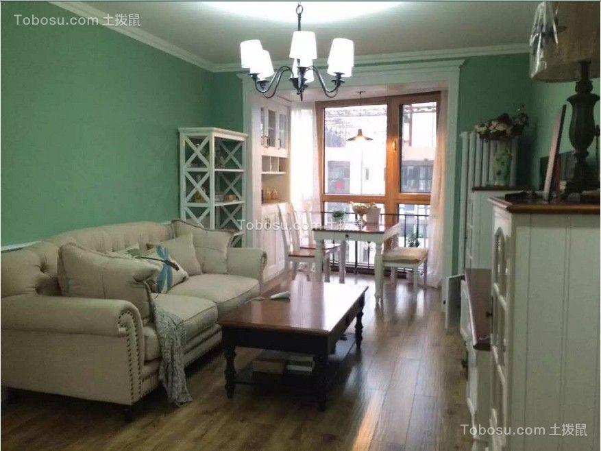 美式风格40平米一居室新房装修效果图