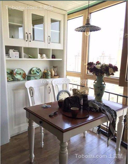 餐厅白色餐桌美式风格装饰设计图片